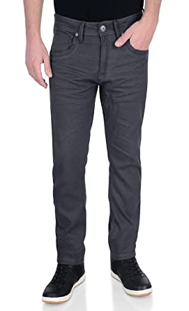 019866d0fca6 Herren Crosshatch Neu Menzo Jeans Straight Cut Enganliegend Stretch Denim-hose   Amazon.de  Bekleidung