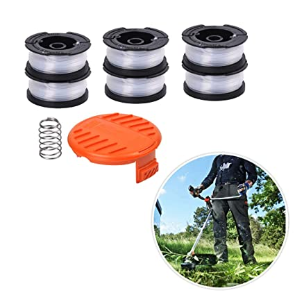 Line String Trimmer Replacement Spool Compatible Black and Decker String Trimmers, 30ft 0.065 Weed Eater String (6 Pack Replacement Spool, 1 Pack ...