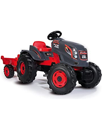 ed52695fc8facd Smoby - 710200 - Tracteur Stronger XXL - + Remorque - Siège Ajustable -  Rouge.  1