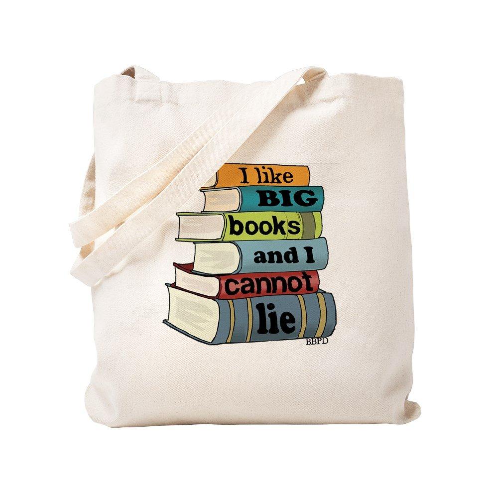 CafePress - I Like Big Books - Natural Canvas Tote Bag, Cloth Shopping Bag