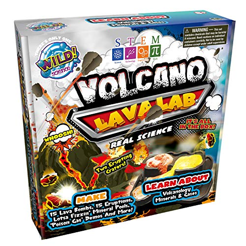 Volcanoes Experiment Kit - WILD! Science Volcano Lava Lab - Science Kits for Kids - STEM - Erupting Volcano Experiment