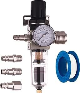 Impresión filtro de aire automático Auto Drain unidad de mantenimiento Reductor de presión Regulador para compresor ...
