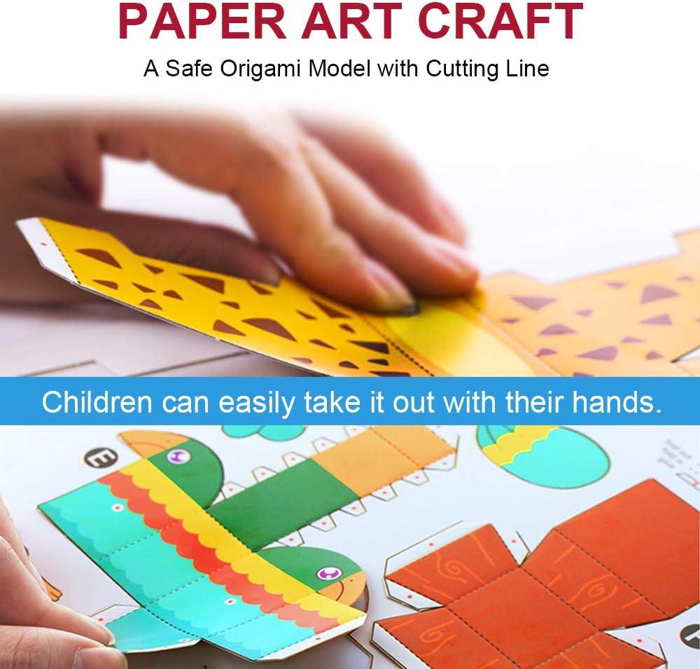 Sea Animal Set TRAVER DREAM 3D Paper Art Craft,DIY Art Paper Kit 10-Pack,Foldable Paper Crafts,Toddler Crafts Art Toys,Paper Plate Craft Art kit,Perfect for Parent-Child Game,Groups,Classroom