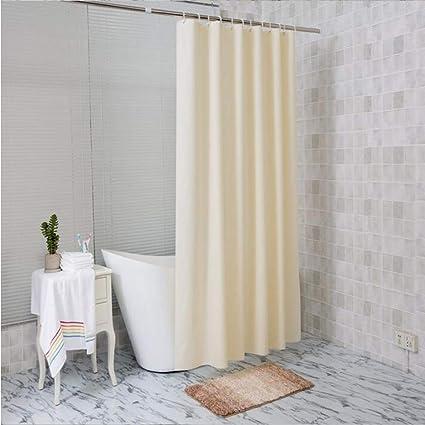 CHESUN Waterproof Shower CurtainTransparent Mildew Resistant Weighted CurtainShower CurtainsTranslucent