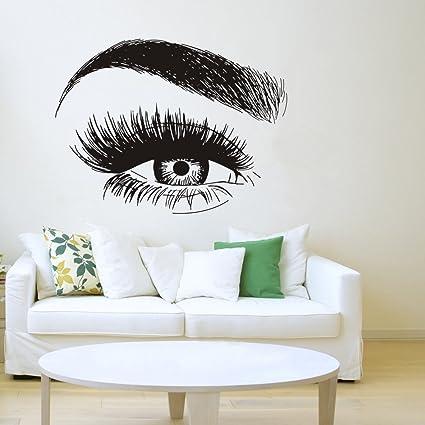 Amazon.com: YOYOYU ART HOME DECOR Eyelashes Wall Sticker Vinyl ...