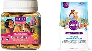 product image for Halo Bundle Liv-A-Littles Treat Plus 3Lb Sensitive Stomach Cat Food Seafood Medley