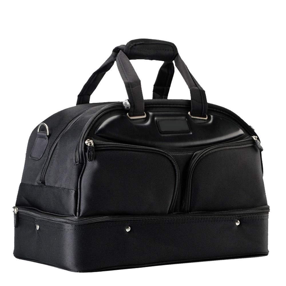 TAESOUW-Accessories Gym Bag Golf Clothing Bag Men's Portable Double-Layer Large-Capacity Clothing Bag Fitness Handbag for Women Men (Color : Black, Size : 482838cm) by TAESOUW-Accessories
