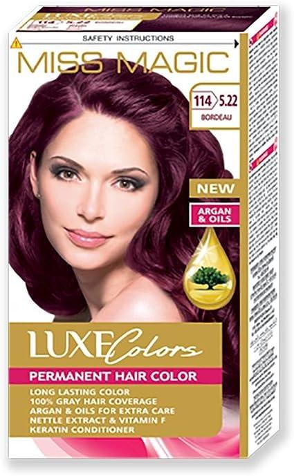 Tinta para pelo Miss Magic Tinte Burdeos Hair Colour con Argan