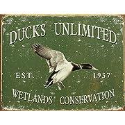 Ducks Unlimited - Since 1937 Metal Tin Sign 16 W x 12.5 H