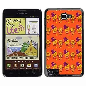 iKiki-Tech Estuche rígido para Samsung Galaxy Note i9220 N7000 - Yellow Skull