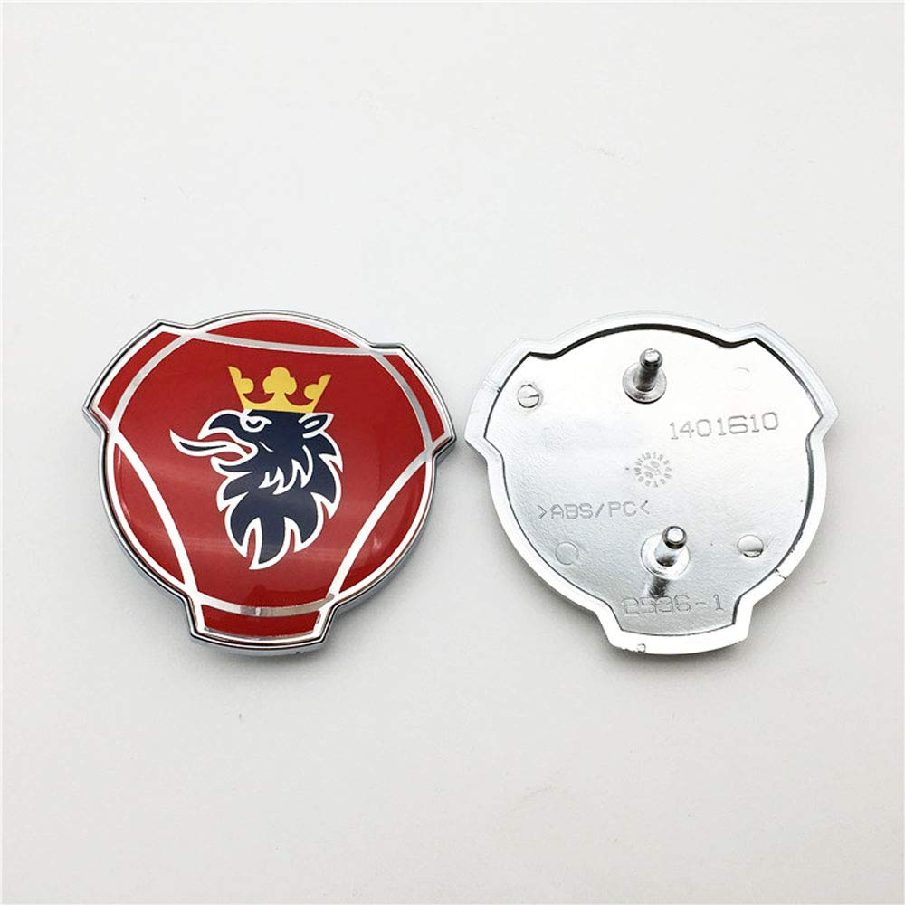 1 PC For Scania Griffin Logo 80mm ABS Truck And Car Custom Front Grill Grille Emblem Badge 1401610
