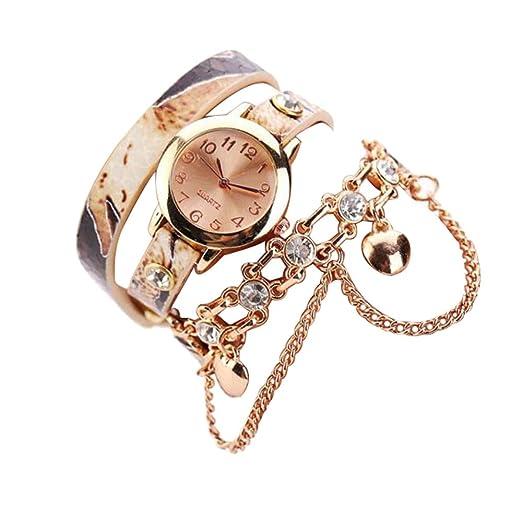 Kinlene women watch - Reloj de pulsera mujer ,Relojes baratos (Beige)