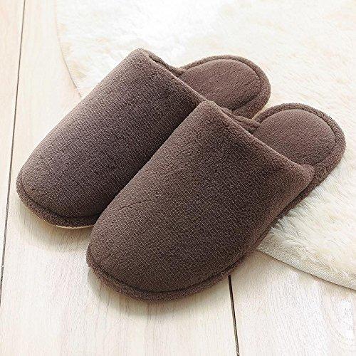 Cotone fankou pantofole femmina coppie indoor sweet home anti-scivolo per stare al caldo scarpa spesso uomini inverno ,43-44, grigio chiaro