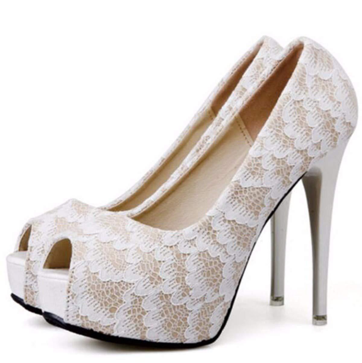 GTVERNH Damenschuhe Mode Im Frühjahr 12Cm High - Heel Gut Zu Fisch Mund Einzigen Schuh Modischen Spitzen Spitzen Wie Niedrige Professionelle Damen - Schuhe