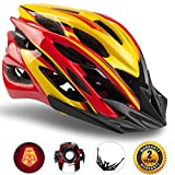 Basecamp Specialized Bike Helmet with Safety Light,Adjustable Sport Cycling Helmet Bicycle Helmets for Road & Mountain Motorcycle for Men & Women, Safety Protection(Red Yellow) Review