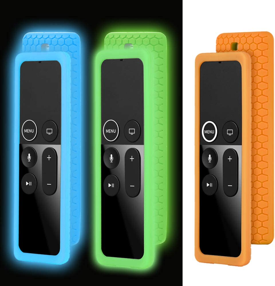 3 Pack TV Remote Protective Case Compatible with Apple TV 4K 4th 5th Gen Remote, Shockproof Silicone Cover Remote Case Holder Skin Anti-Slip for New Apple TV 4K 4th 5th Siri Remote Controller