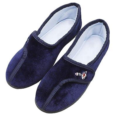 Amazon.com   CHUANGLI Women Wide Width Diabetic Shoes with Memory Foam Elderly Slippers for Edema, Arthritis, Pregnant, Swollen Feet, Indoor & Outdoor   Slippers