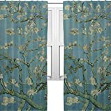 RNK Shops Apple Blossoms (Van Gogh) Curtains – 40″x63″ Panels – Unlined (2 Panels Per Set)