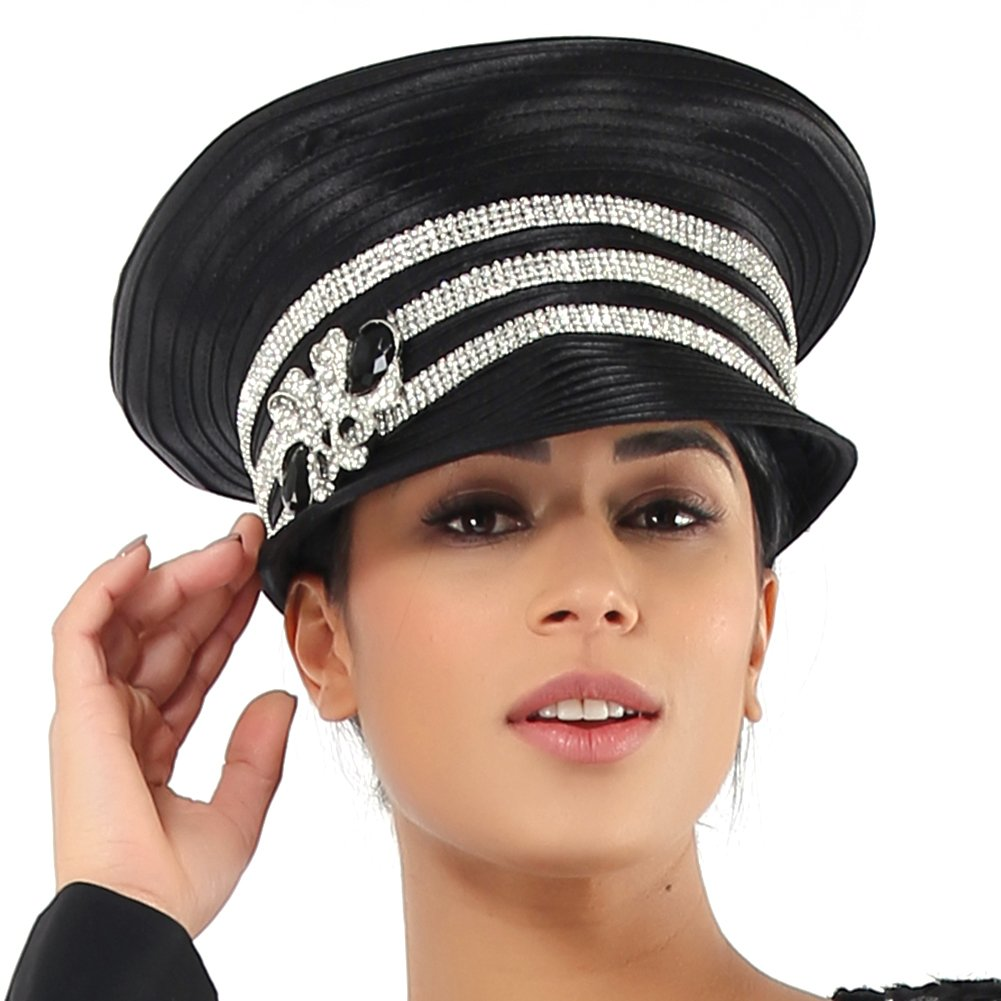 Hats Only Kueeni Women Church Suits with Hats Special Occasion Wedding Party Clothes Black