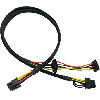 6+2 SATA IDE Molex Power Adapter Cable Compatible with HP DL380 G6 G7 Server 25-in COMeap Motherboard 10 Pin to PCI-E 8 Pin 63.5cm