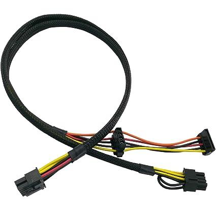"6/"" ATX Molex Power to SATA Power Adapter  Convert ATX to SATA"
