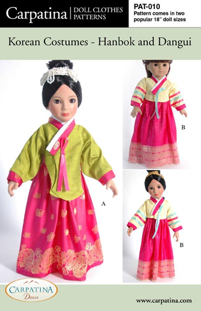 Pattern for Korean Costumes - Hanbok & Dangui - fits 18'' American Girl Dolls