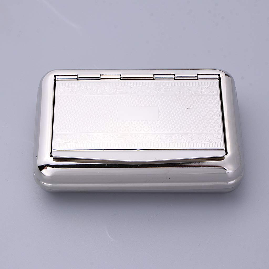 1Pc Silver Metal Tobacco Storage Case Box Holder Moist Preserve