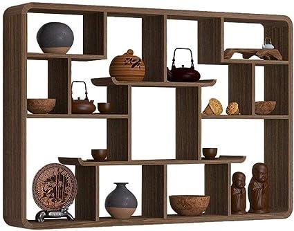 Estante de la pared colgante de los estantes de madera for ...