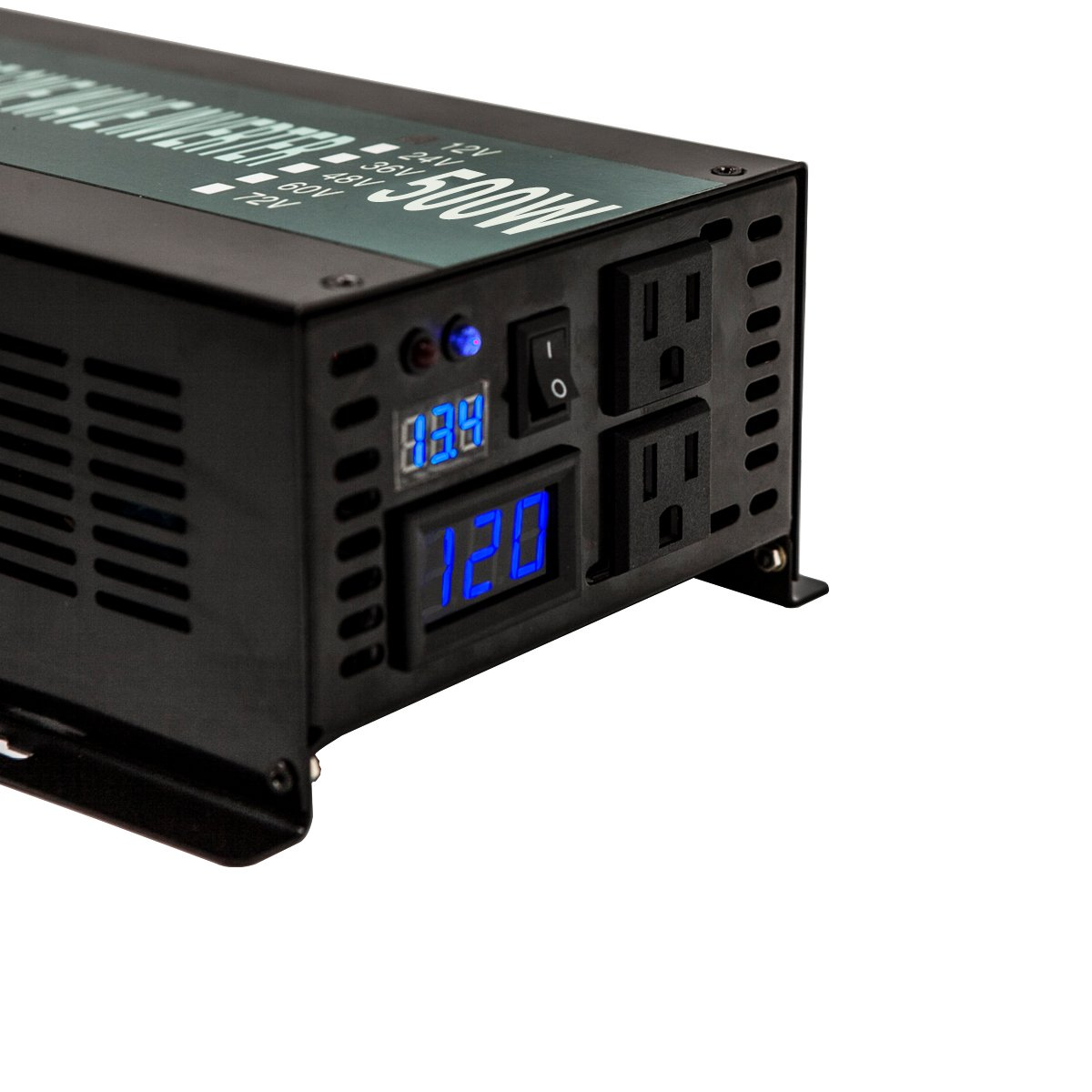 WZRELB Reliable Power Inverter 800w 1600w Peak Pure Sine Wave Inverter 12v 120v 60hz LED Display by WZRELB (Image #6)