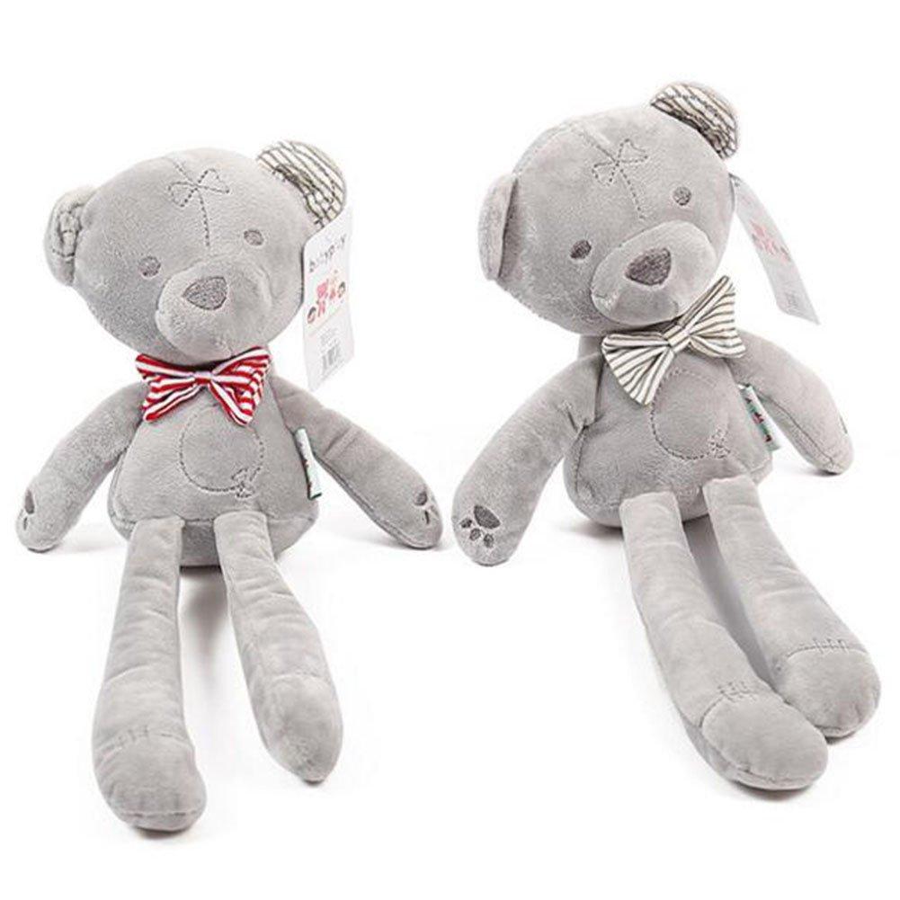 Highdas Pack de 2 juguetes de peluche para dormir de bebé Appease Doll Bear (Red