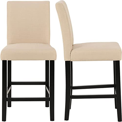 GOTMINSI Classic 24 Inches Counter Height Stools Upholstered Bar Stool