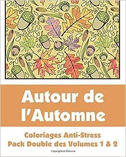 Coloriage Anti Stress Automne.Amazon Fr Autour De L Automne Coloriages Anti Stress Pack