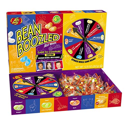 Jelly Belly BeanBoozled Jumbo Spinner Jelly Bean Gift Box, 4th Edition, 12.6-oz -