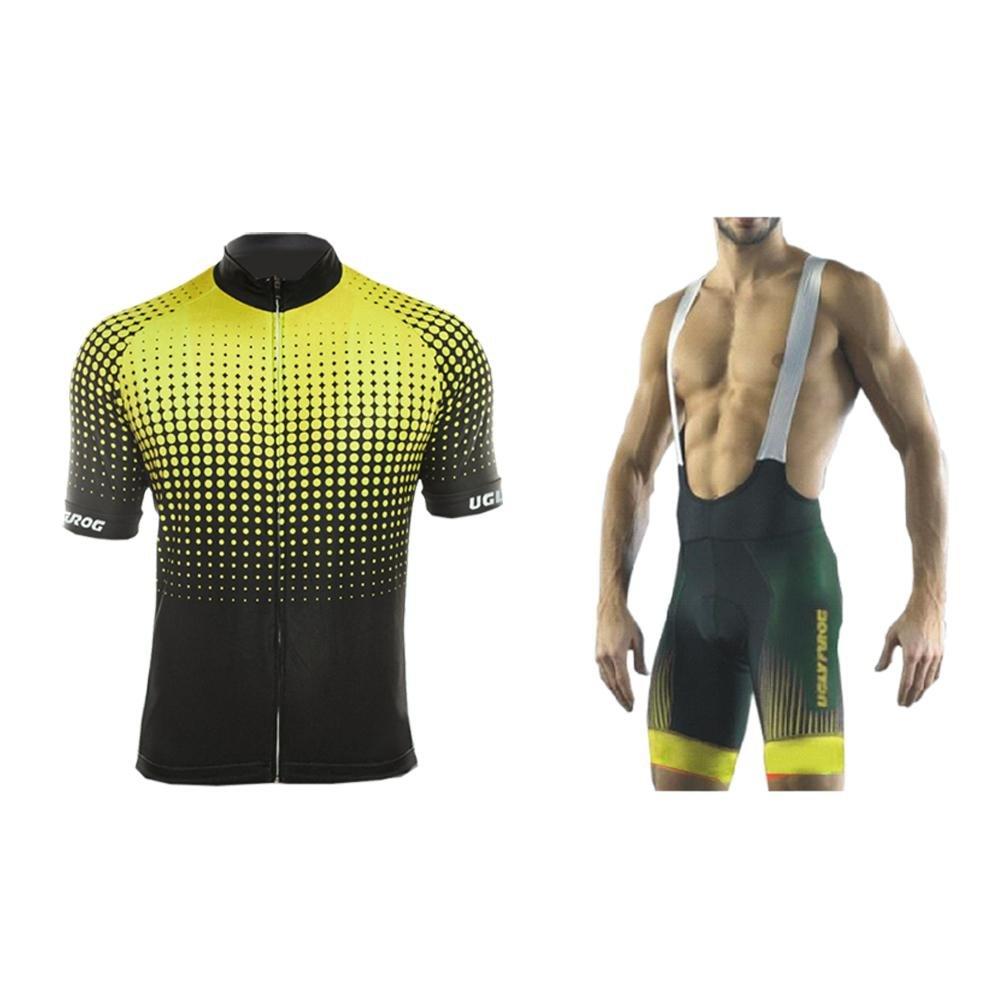 Uglyfrog Herren Radtrikot Sommer Kurzarm Mode Sport & Freizeit MTB Fahrradbekleidung Radsport Hemd Polyester Bike Shirts Gemütlich DXMZ10