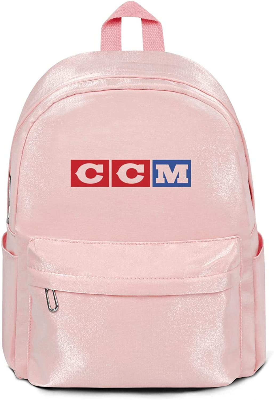 Womens Men Travel Laptop Backpacks CCM-Motorcycles-Logo- Lightweight School College Book Bags