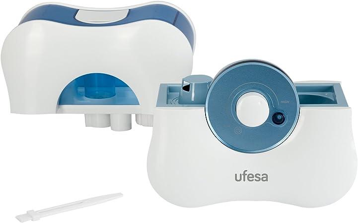Ufesa HF3000 - Humificador, 30W, Capacidad del depósito: 1,7L, 8 h de Autonomía, Ajuste de la cantidad del vapor ...