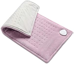 "Electric Heating Pad XXL Heat Therapy Wrap, 12"" X 24"" King Size Heating Blanket for Back, Neck, Stiff Joint, Legs, Pain Relief, 3 Heat Levels, Dry/Moist Heating Pad with Auto Shut Off by FIGERM"