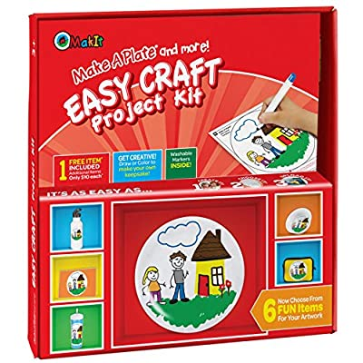 Makit Products Make a Plate and More - Easy Craft Project Kit: Toys & Games
