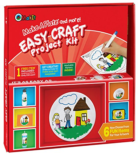 Makit Products Make a Plate and More - Easy Craft Project (Craft Project Kit)