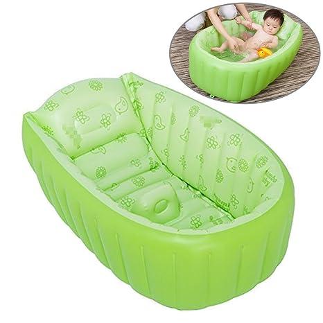 Bañera hinchable para bebé, portátil, mini piscina de aire para ...