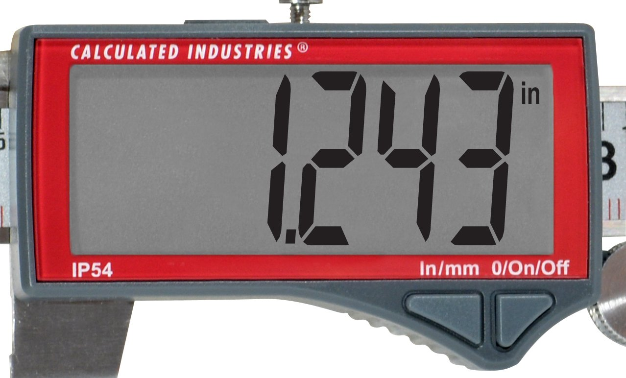 Calculated Industries 7418 AccuMASTER Electronic Digital Vernier Caliper | Metric/SAE Inch to Millimeter Conversion | Tool Measures 0-6 Inches/150mm | Stainless Steel | Largest Display Digits |IP54 by Calculated Industries (Image #17)