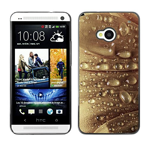 Soft Silicone Rubber Case Hard Cover Protective Accessory Compatible with HTC ONE M7 2013 - Plant Nature Forrest Flower 22