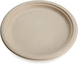 "Earth's Natural Alternative ECOP011CSE Eco-Friendly, Compostable Plant Fiber 7"" Plate, 1000 Count"