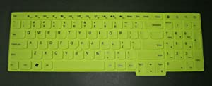 BingoBuy Green US Layout Keyboard Protector Skin Cover Lenovo ThinkPad Edge E530 E531 E535 E540 E550 E555 T540P T550 T560 P50 P50s W540 W541 W550s L540 Yoga 15 with BingoBuy Card Case