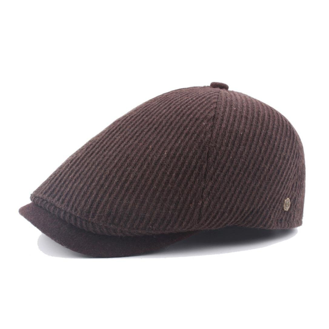 ベレー帽帽子メンズ、ツガヴィンテージPainter 's帽子ユニセックスコットン帽子Directorベレー帽帽子キャップ Free size ブラウン  コーヒー B077XX9K75