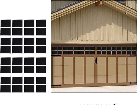 Homend Lote De 32 Paneles Magnéticos Para Decoración De Puertas De Garaje De Metal Ventanas Falsas De Imitación 6 3 X 4 0 In 2 Ventanas Magnéticas De Coche Grandes Para Puertas