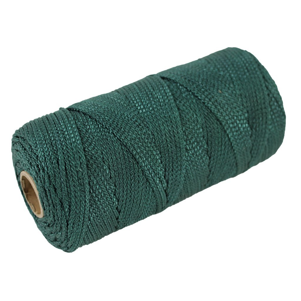 Braided Nylon Seine Twine #48 - SGT KNOTS - 100% Nylon Fiber - Durable Utility Twine - for Crafting, Home Improvement, Decoy Lines, Mason Lines, Fishing Nets, Construction (399 feet - Green)