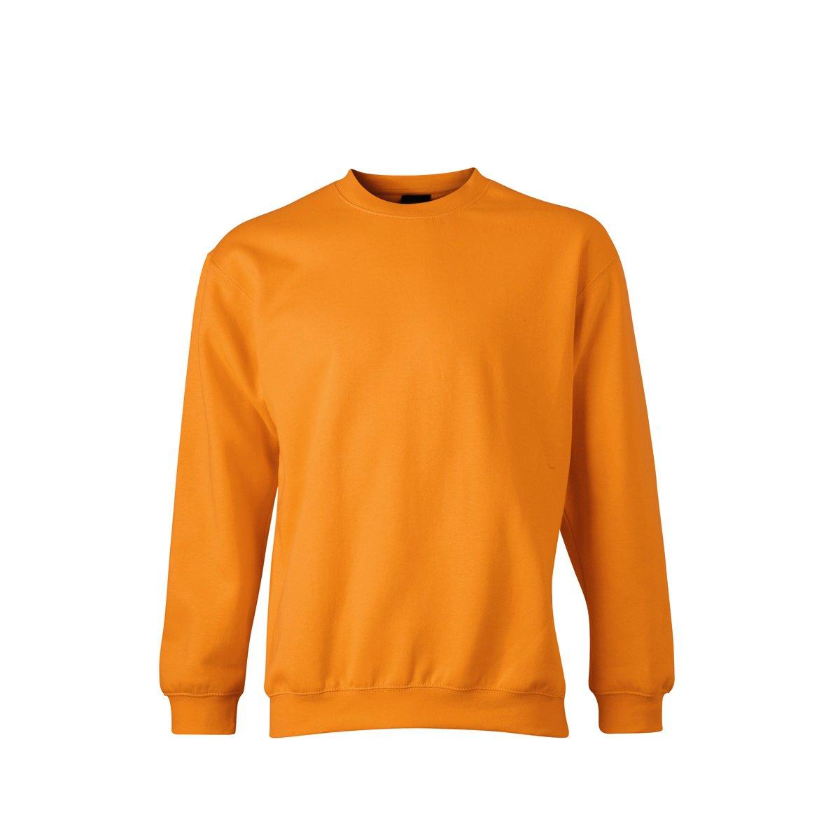 James /& Nicholson Big Boys Plain Round Collar Long Sleeve Sweatshirt