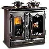 La nordica - Termosuprema compact dsa - thermo cuisiniere a bois - couleur : noir anthracite