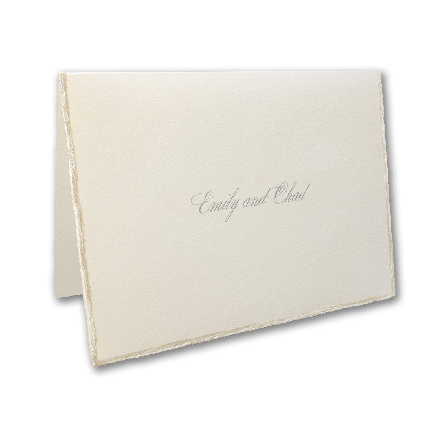 875pk Sophisticated Edges - Note Card and Envelope-Thank You Notes